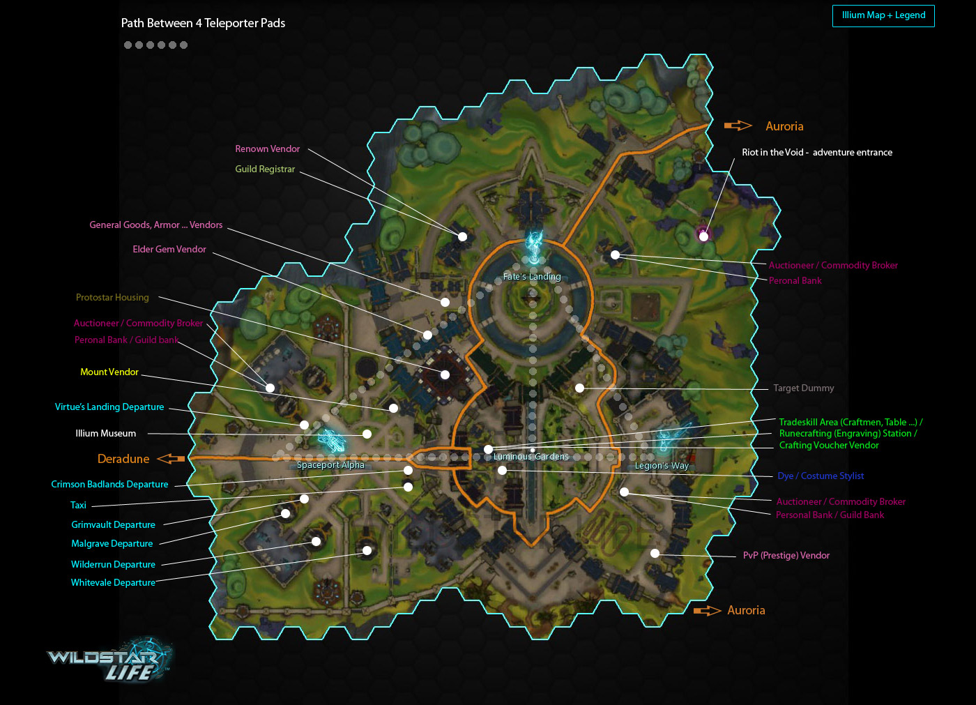 Illium map with points of interest