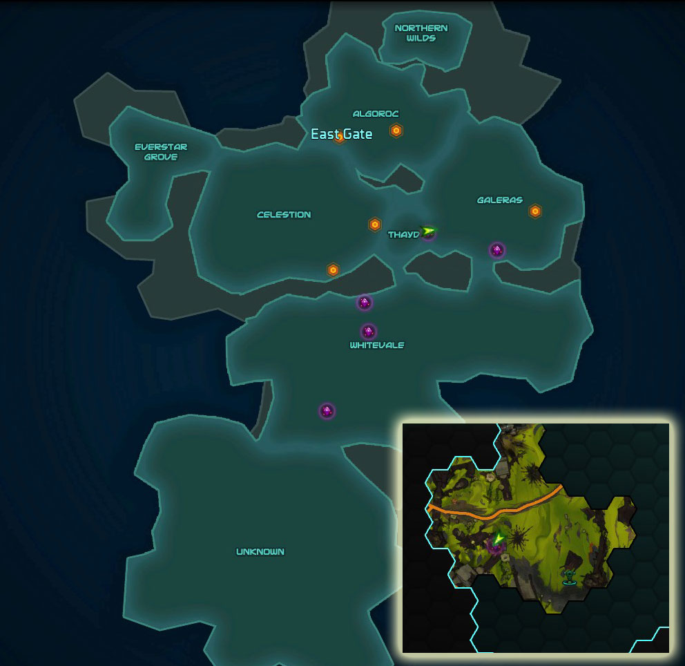 The Hycrest Insurrection Entrance Map Location