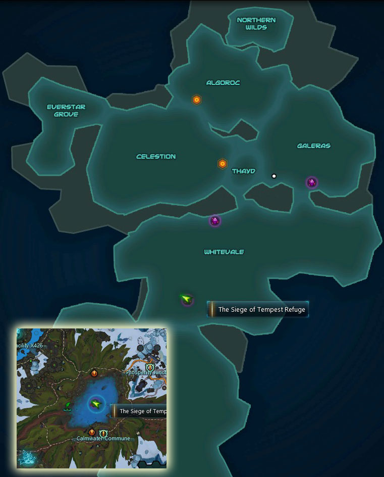 The Siege of Tempest Refuge Entrance Map Location
