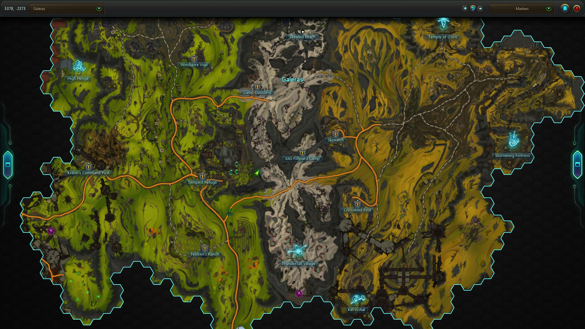 Galeras Secret Stash Map Location