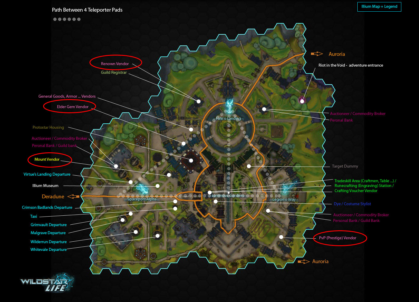 Illium map points of interest