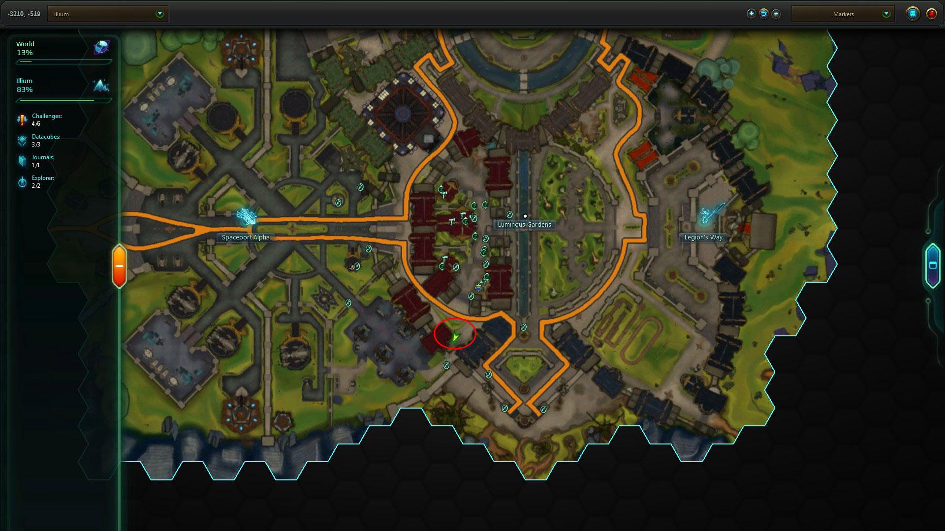 Illium secret stash map