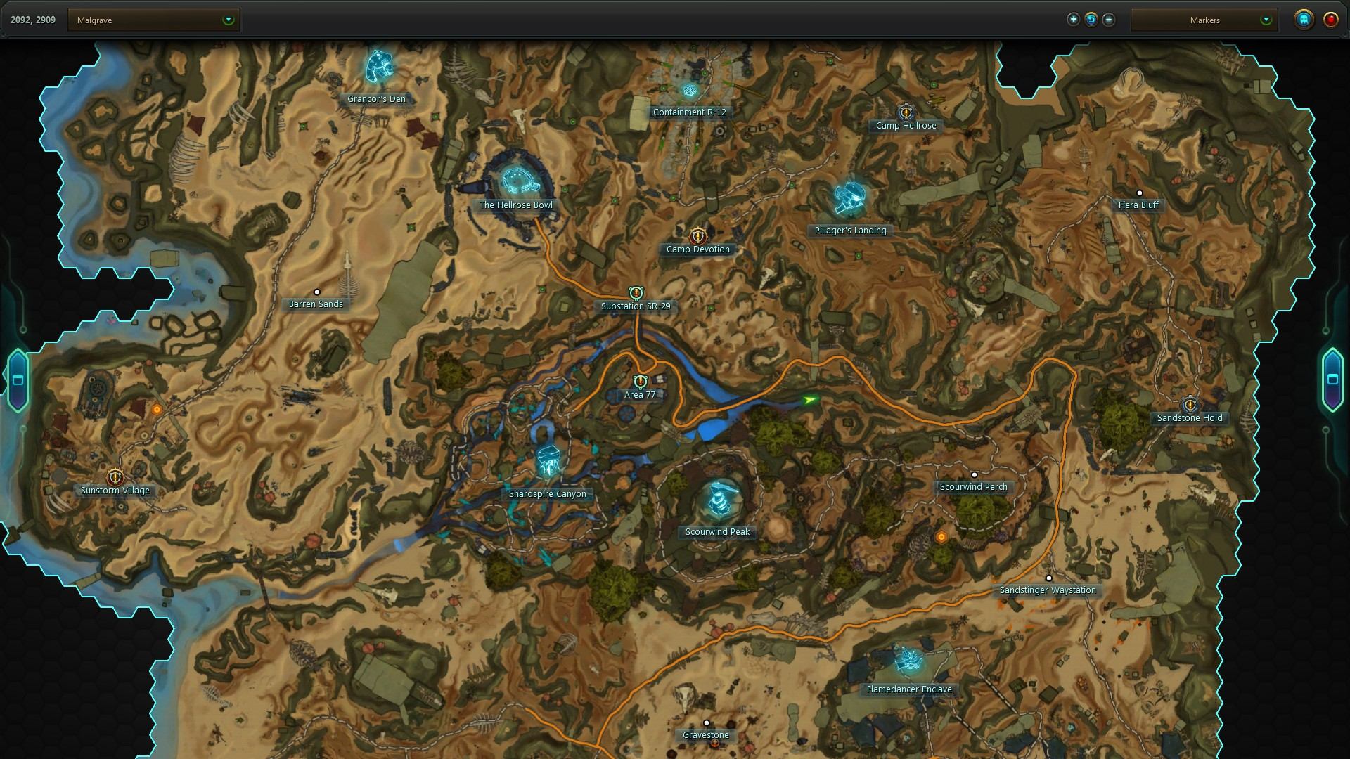 Malgrave Secret Stash Map Location