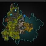 Galeras hidden path map