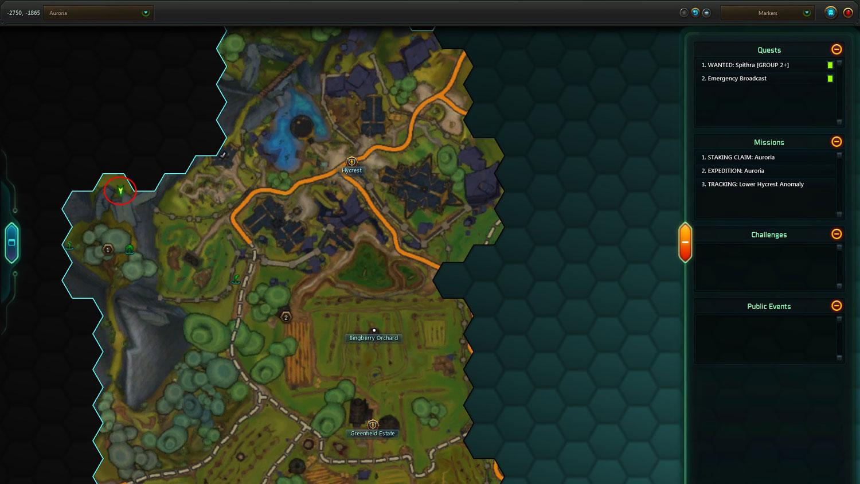 auroria secret stash map
