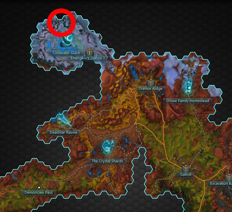 Loftite Crystal Skull Map Location