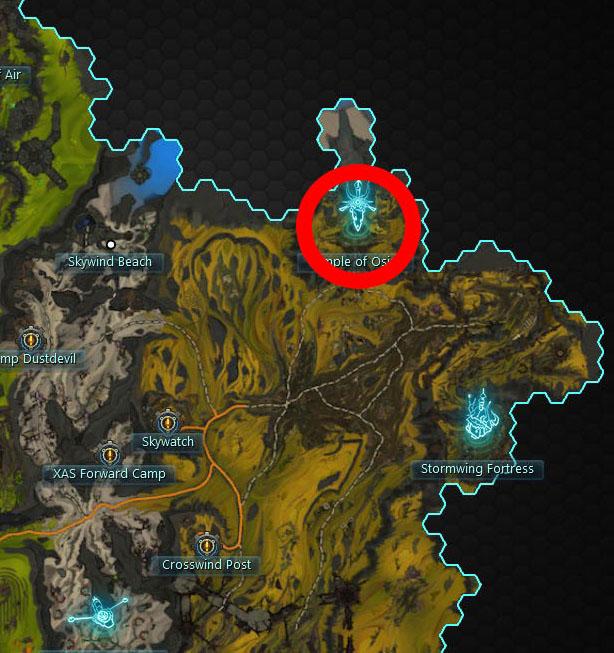 Talon of Osiric Map Location