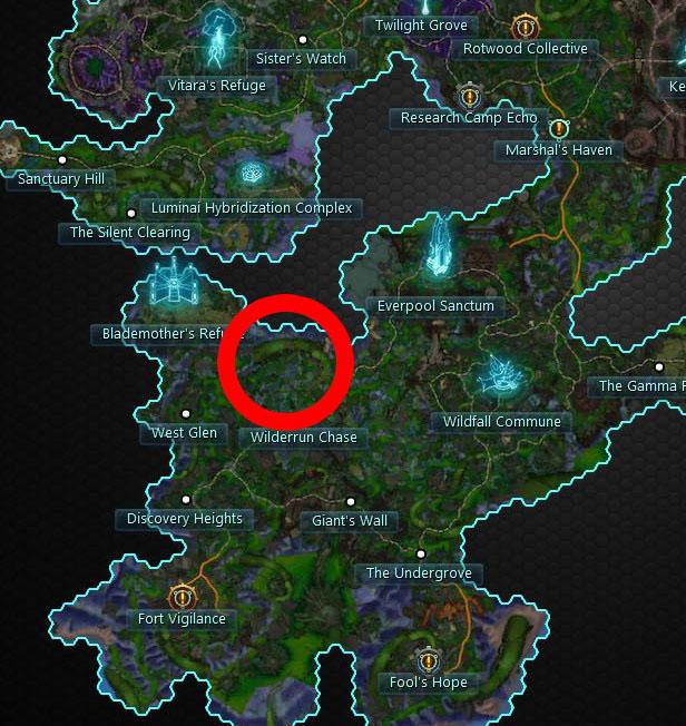 Tresayne's Swordmaiden Helm Map Location
